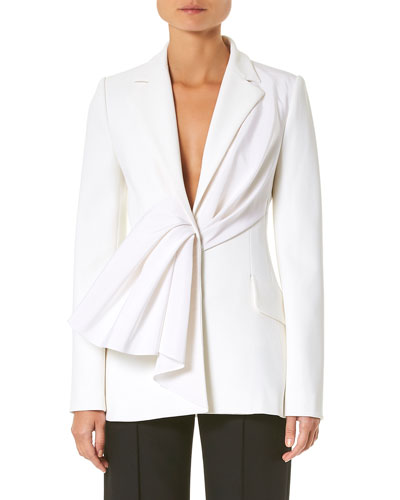 Asymmetric Draped Ruched Jacket