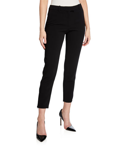 High-Rise Crepe Cropped Pants