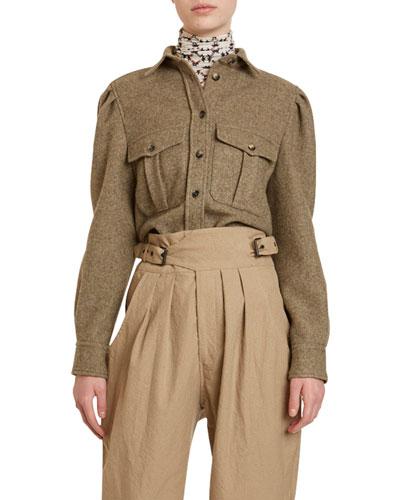 Wool Long-Sleeve Top