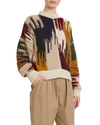 Crewneck Colorblock Sweater