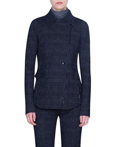 Glen Check Velvet Jacket