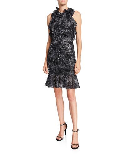 Halter Open-Back Cocktail Dress