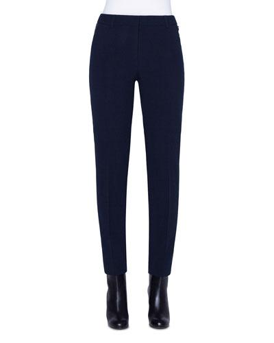 Plaid Devore Straight-Leg Pants
