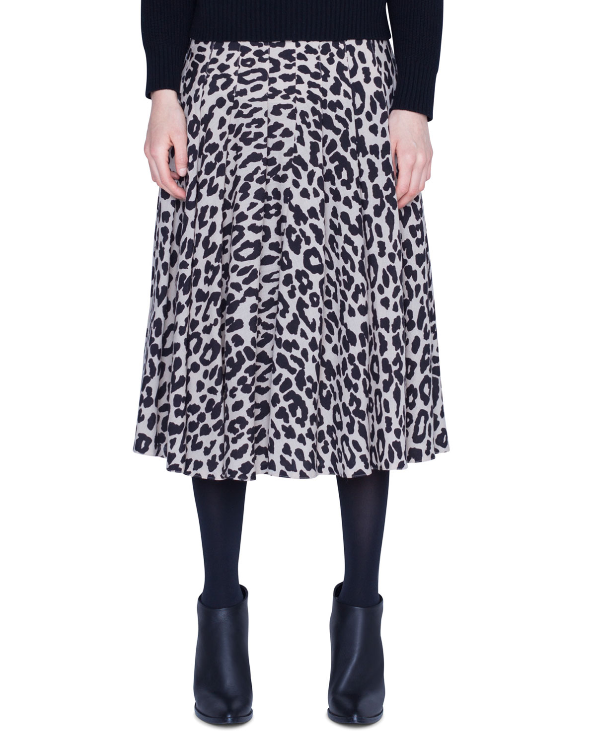 Akris Punto Tops LEOPARD PRINT WOOL KNEE-LENGTH