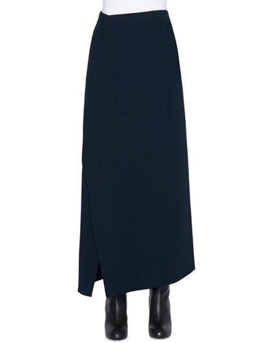 Wool Wrapped Midi Skirt