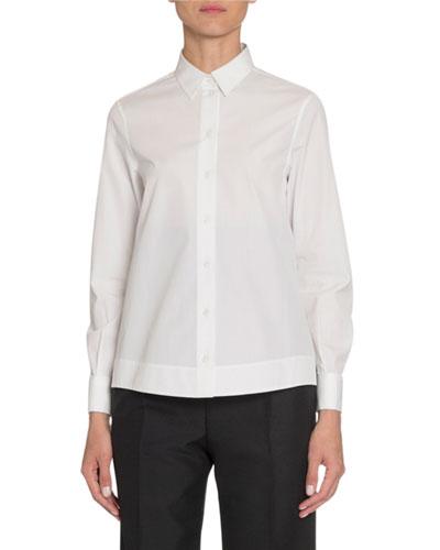 Poplin Long-Sleeve Blouse