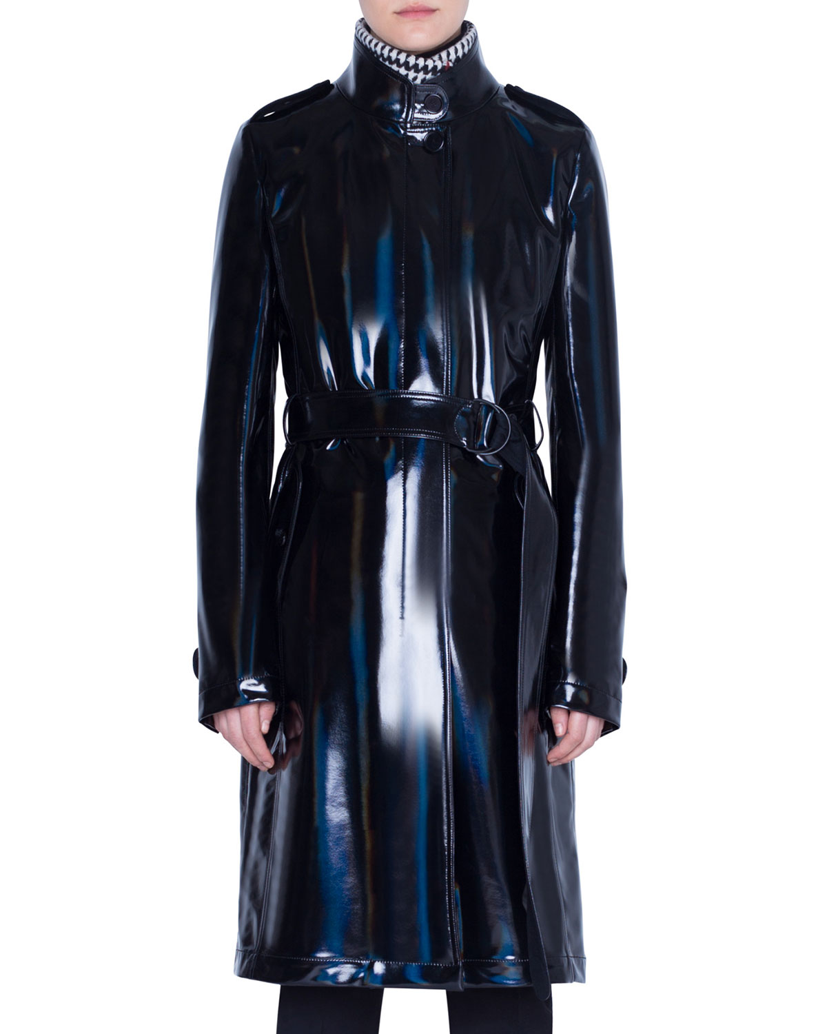Akris Punto Coats LACQUERED WOOL TRENCH COAT
