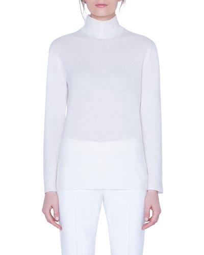 V-Neck Long-Sleeve Cashmere Sweater