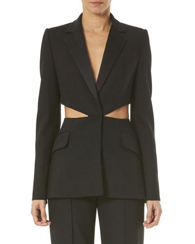 Notched-Lapel Cutout Jacket