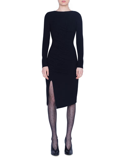 Ruched Jersey Shift Dress