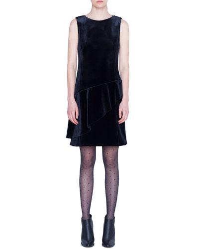 Scuba Velvet Dress