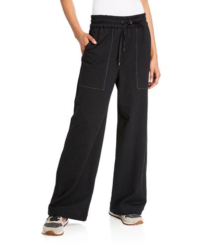 Lightweight Felpa Wide-Leg Spa Pants