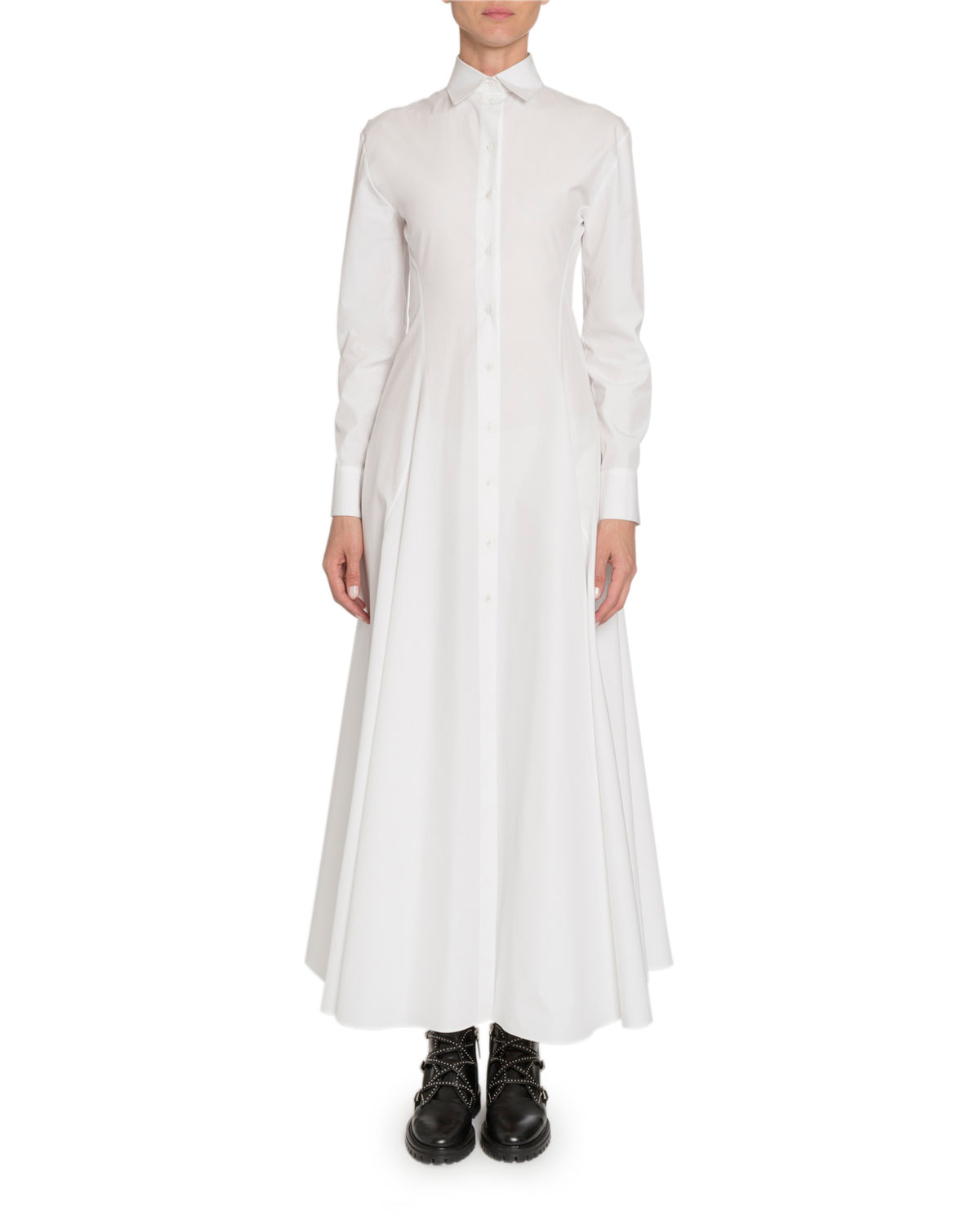 Alaïa Dresses POPLIN LONG-SLEEVE SHIRTDRESS