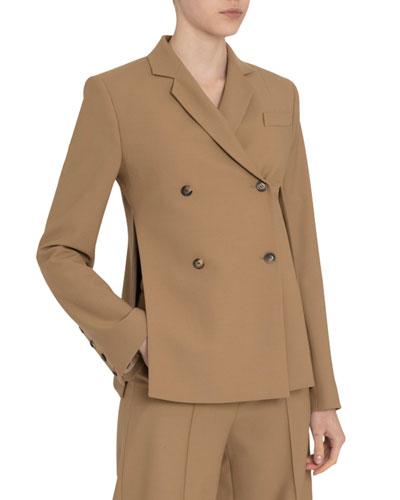 Asymmetric Split-Side Blazer Jacket