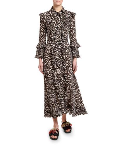 Animal-Print Long Fancy Dress