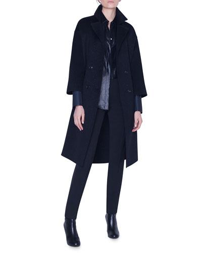 Sparkle Wool-Cashmere Coat