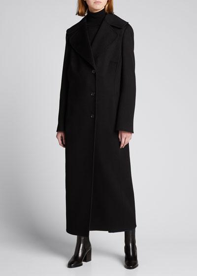 Cashmere Midi Length Coat