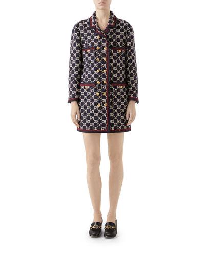 Macro GG Tweed Coat