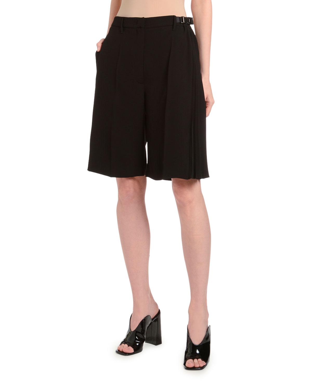 Prada Shorts DRAPED TECH-FABRIC SHORTS
