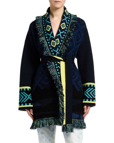 Cashmere Northern Lights Jacquard Cardigan