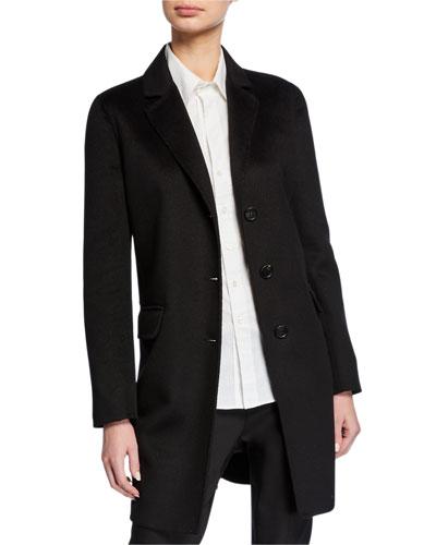 Lightweight Cashgora Mid-Length Coat