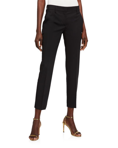 Matte Stretch Straight-Leg Pants