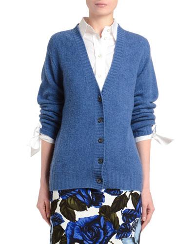 Cashmere V-Neck Button-Front Cardigan