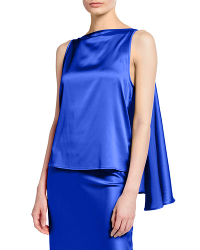 Judy Knot-Front Silk Top