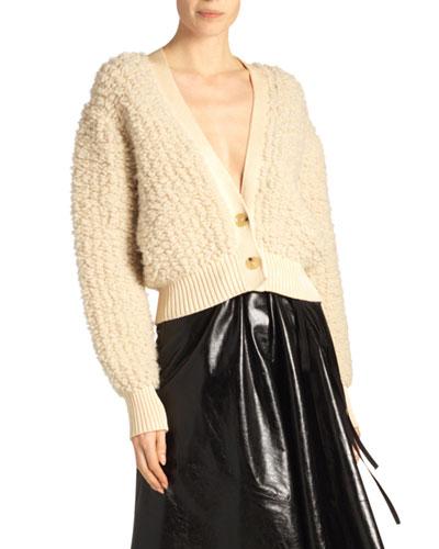 Fuzzy Cardigan Sweater