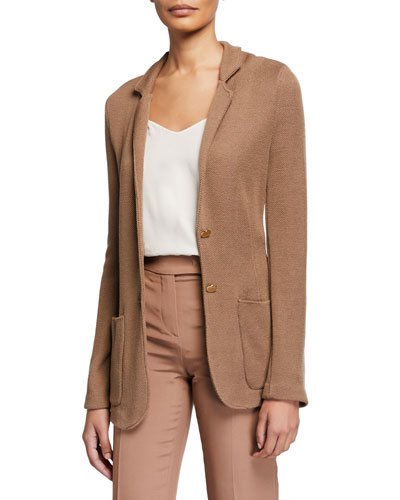 Wool-Viscose Button-Front Jacket