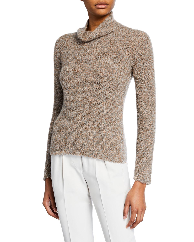 Giorgio Armani Sweaters CASHMERE SILK WAFFLE-STITCH SWEATER