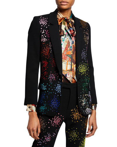 Mo' Monet Mo' Problems Embellished Long Blazer