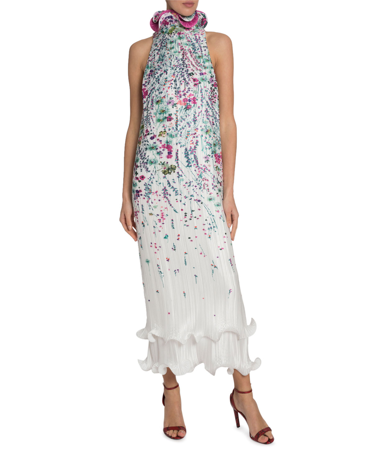 Givenchy Dresses FLORAL PLEATED DRESS