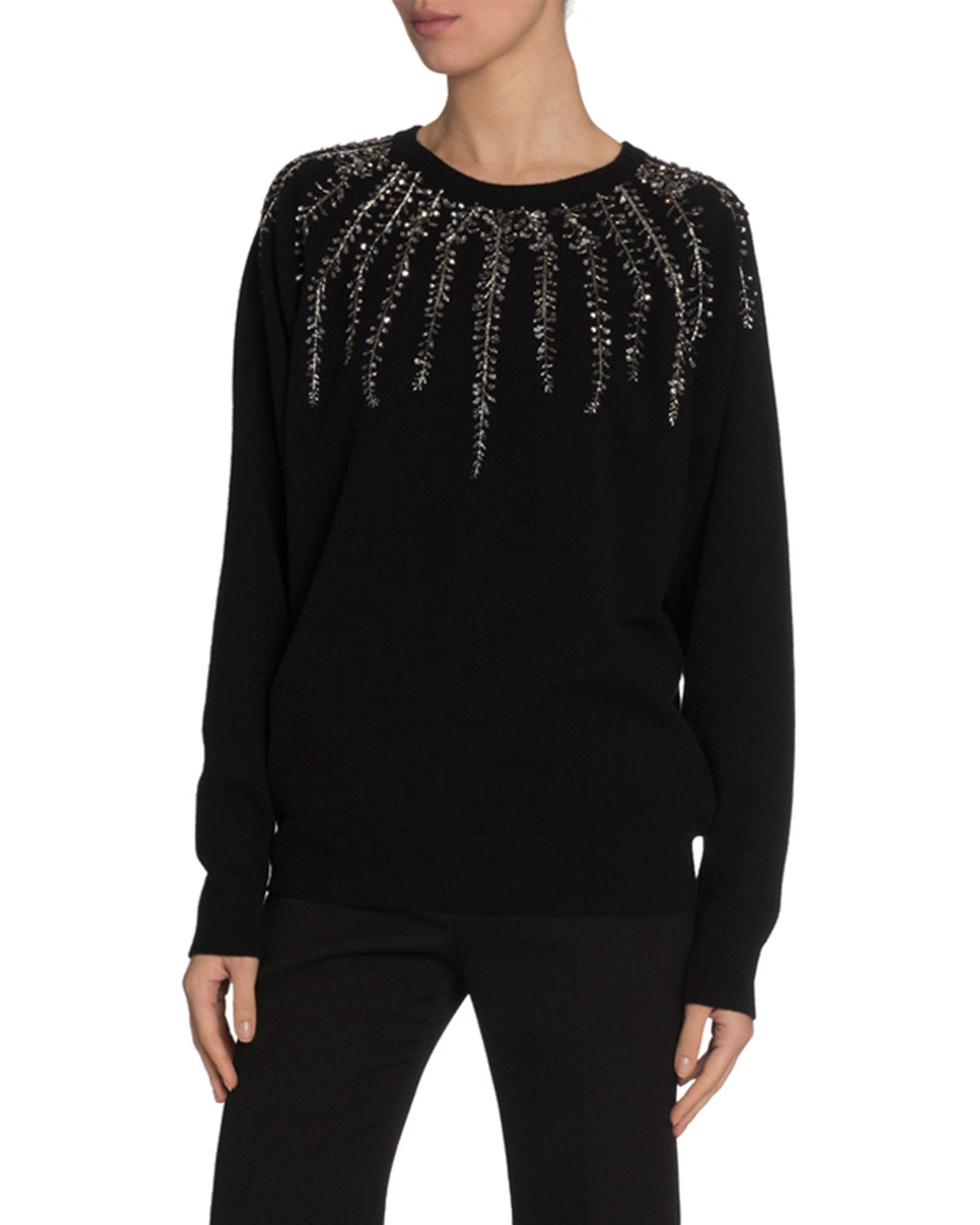 Givenchy Sweaters WILLOW CRYSTAL EMBROIDERED SWEATER
