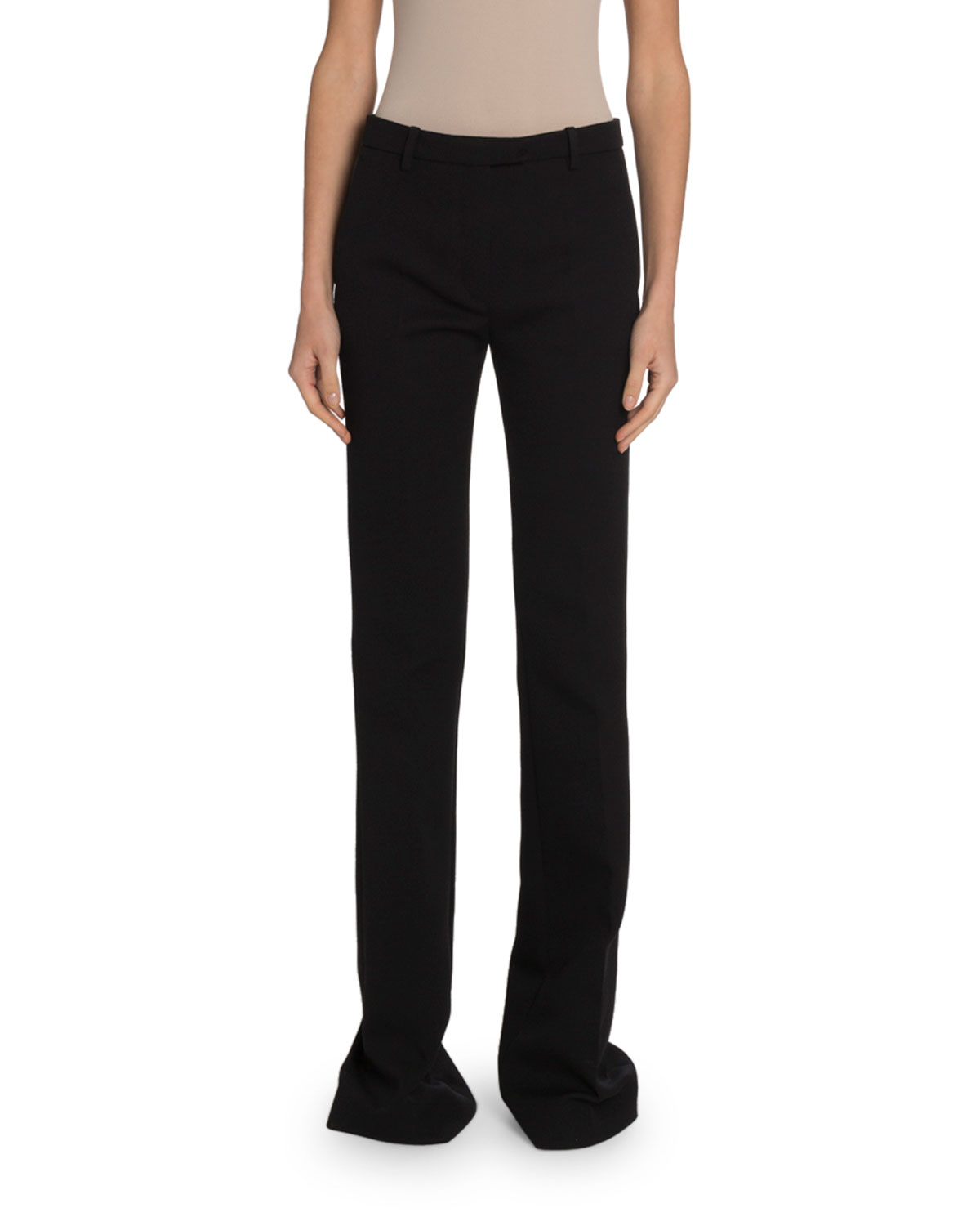 Givenchy Pants WOOL CREPE WIDE-LEG TROUSERS