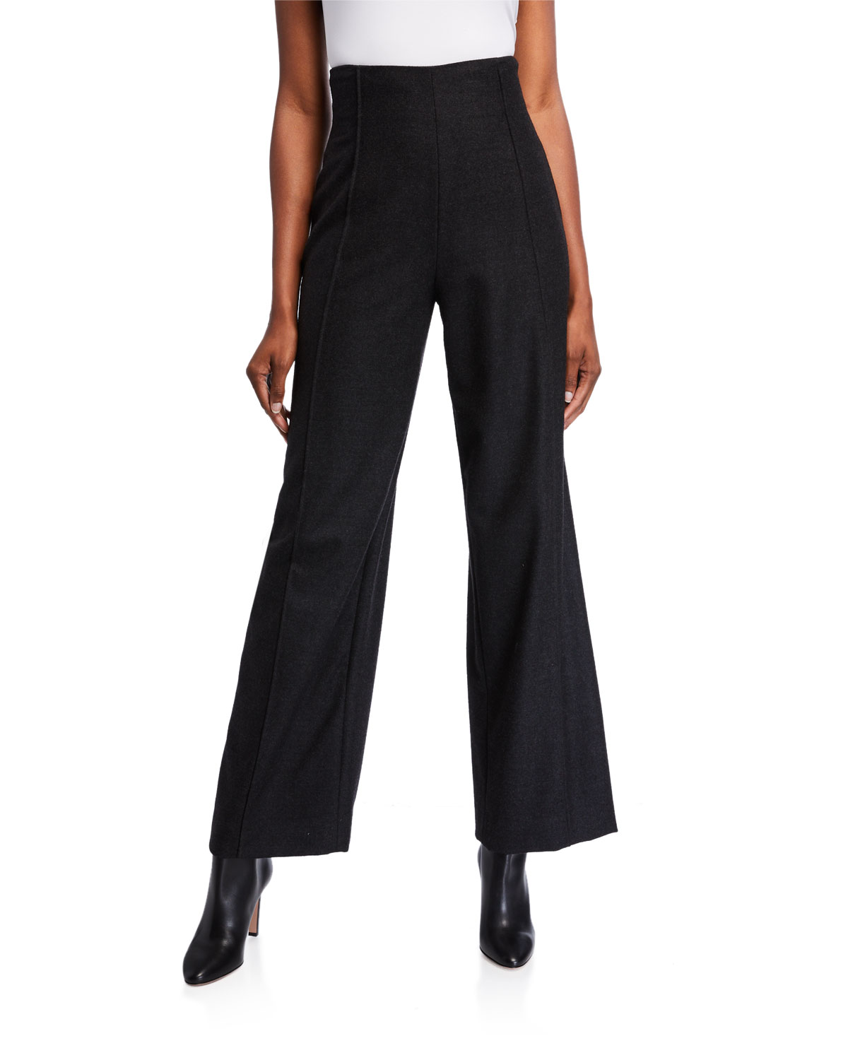 Oscar De La Renta Pants HIGH RISE STRETCH WOOL PANTS