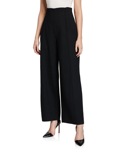High-Rise Wide-Leg Cropped Pants