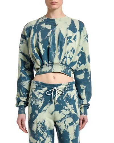 Cropped Tie-Dye Sweatshirt