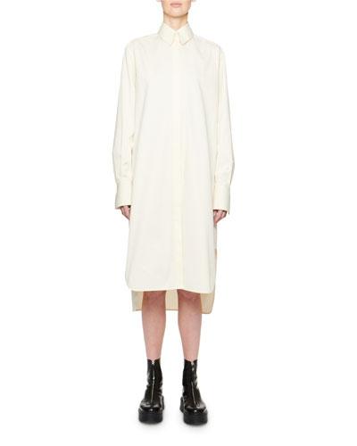 Sona Long-Sleeve Cotton Shirtdress