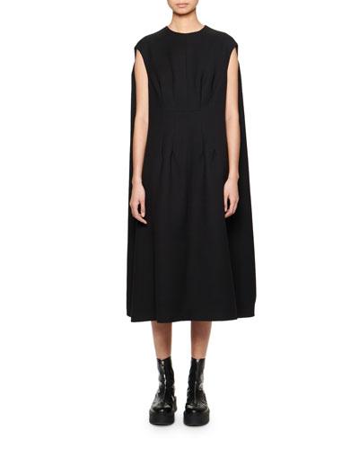 Isandra Cape-Back Shift Dress