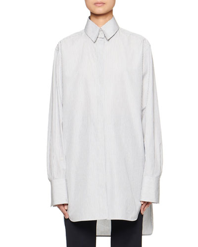Pedro Pinstriped Cotton Shirt