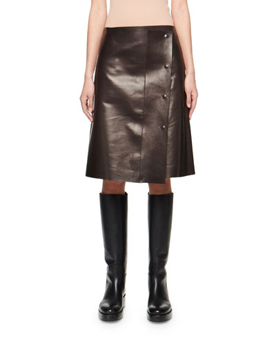 25ae0d4d4c29 Lambskin Leather Skirt | bergdorfgoodman.com