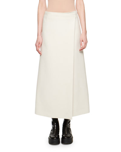Saio Wool-Silk Wrap Skirt