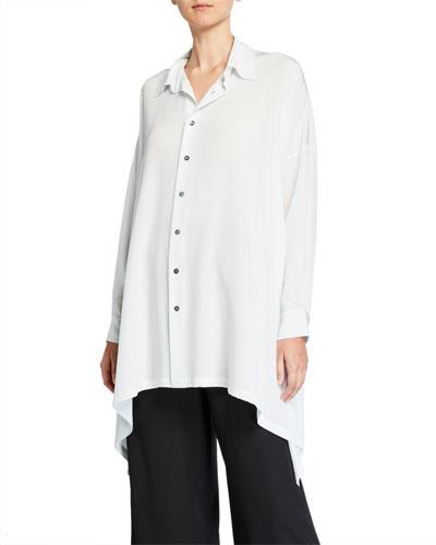 Silk Collared Handkerchief Shirt