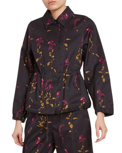Floral-Print Cotton Jacket