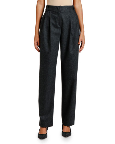 Pleated Flannel Pants