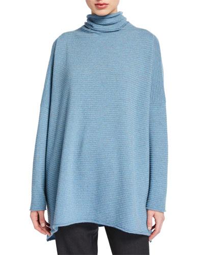 Cashmere Funnel Neck Sweater