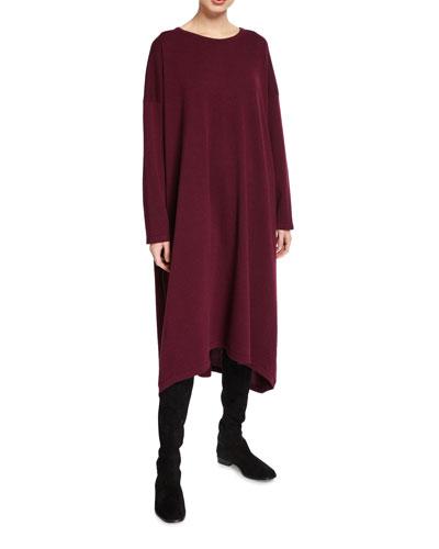 Cashmere Long-Sleeve Dress
