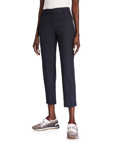 Monili Seamed Tropical Wool Trousers