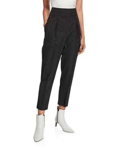 High-Rise Lightweight Wool Pants